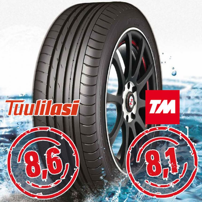 Sportnex AS-2+ TM- ja Tuulilasi-testimenestys-2+ 255/45-17 Y